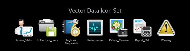 Vector Data Icon Set