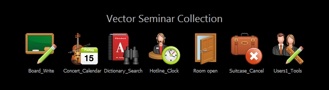 Vector Seminar Icon Set